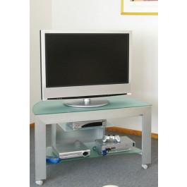 Carrelli Porta Tv In Ferro Battuto.Cerchi Carrello Portatv In Alluminio E Cristallo Con Ruote H12515