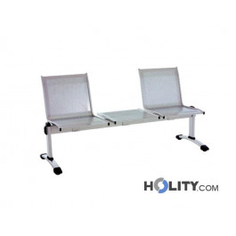 Panca per sala attesa con tavolo h2043