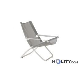 Poltrona relax in acciaio, regolabile in 2 posizioni h19217