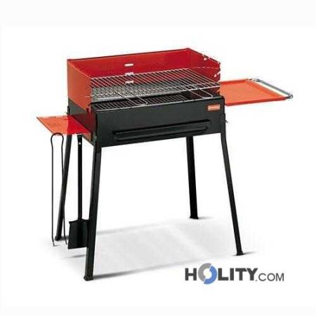 Barbecue a carbonella con piani di appoggio h17012