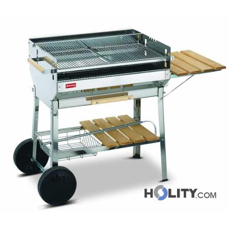 Barbecue a carbonella in acciaio inox h17019