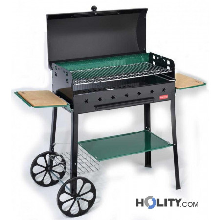 Barbecue a carbonella tre ripiani h17016