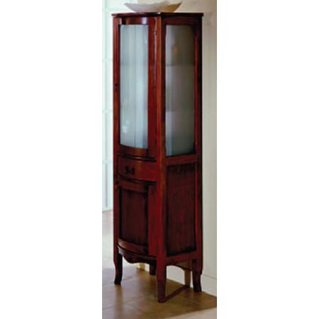 Colonna bagno classica in legno con anta in vetro h11305 - Mobili basso costo ...