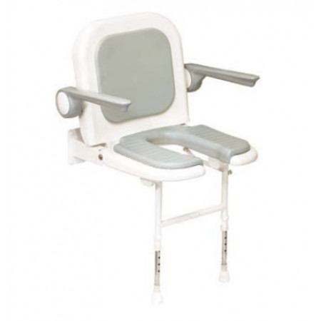 Sedile imbottito ad U con schienale e braccioli h13413