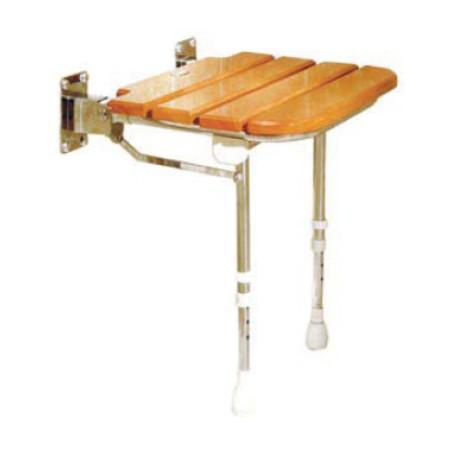 Sedile senza schienale con doghe in legno h13415