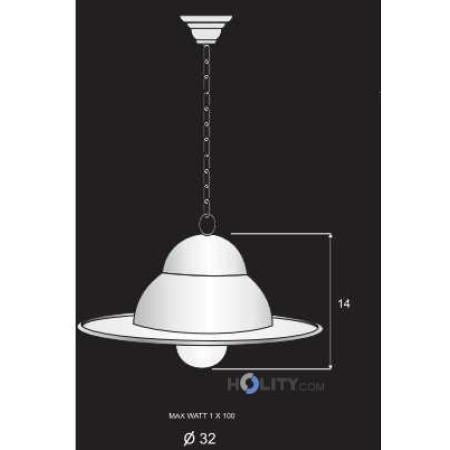 Lampada- a- sospensione- in- ferro- battuto- h16808