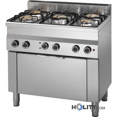 cucina-professionale-5-fuochi-con-forno-elettrico-h35953