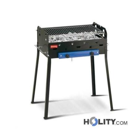 Barbecue a gas con roccia lavica h17028