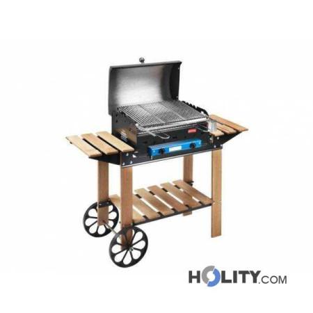 Barbecue a gas con struttura in legno h17033