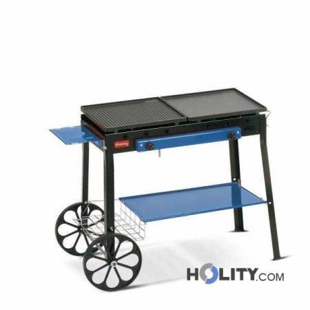 Barbecue a gas montato su carrello h17030