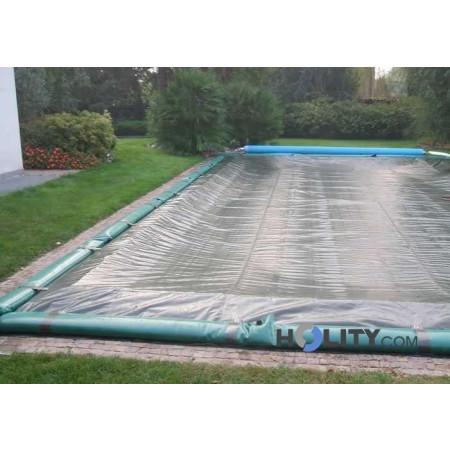 Copertura invernale per piscine interrate in poliestere 6,25 x 3,60 h17426