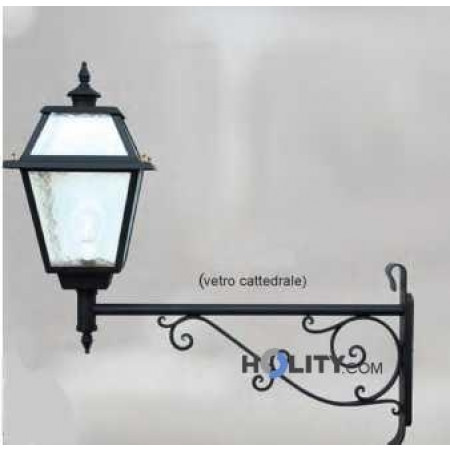 Lampada a muro con diffusore in vetro cattedrale h16838