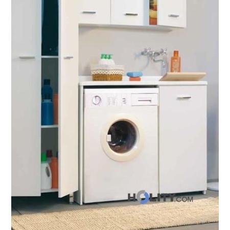 Lavatoio con coprilavatrice in plastica e nobilitato h15611 - Mobile coprilavatrice con lavatoio ...