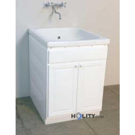 Lavatoio per esterni con vasca in ceramica h15627 - Lavatoio ceramica con mobile ...