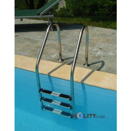 Scaletta in acciaio inox per piscine interrate h17454 - Piscine in acciaio inox ...