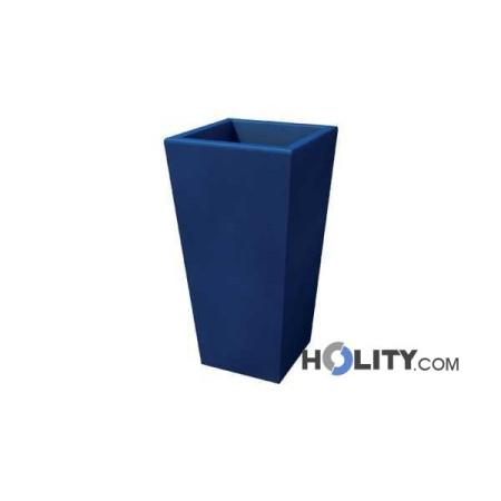 Vaso rettangolare in plastica con opzione luce h12703 for Kloris vasi