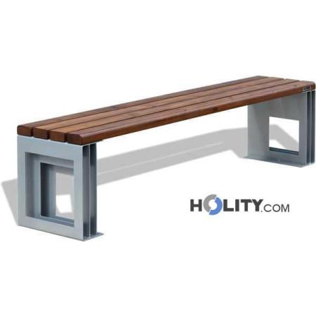 panca-in-metallo-e-seduta-con-doghe-in-legno-h140179