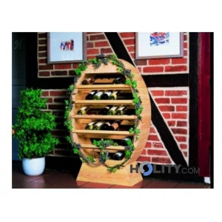 Portabottiglie in legno di pino h24810 - Portabottiglie di vino in legno ...