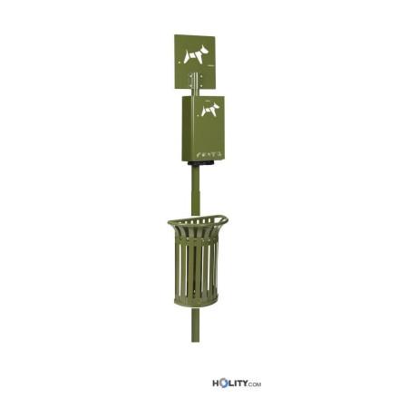 dog-station-con-cestino-e-dispenser-sacchetti-h8666