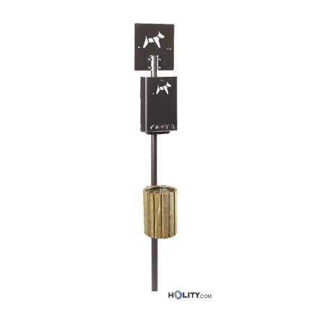 dog-station-per-parchi-con-cestino-in-legno-h8668