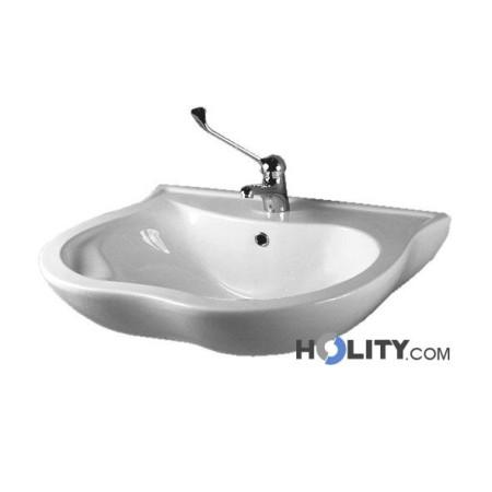 lavabo-ergonomico-in-porcellana-con-poggiagomiti-e-bordo-di-protezione-h9117