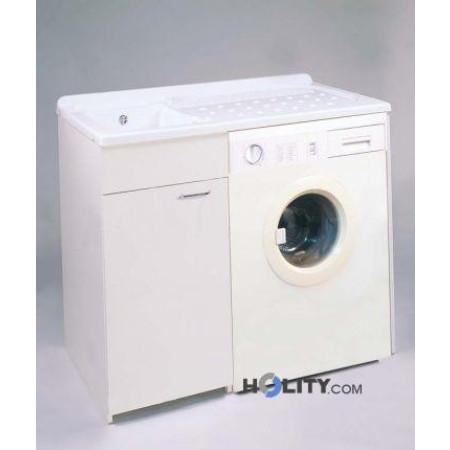 Lavatoio con vasca in metalcrilato per lavatrice h15619 for Mobile coprilavatrice da esterno