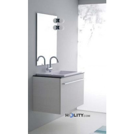 Mobile bagno con top in cristallo h21019