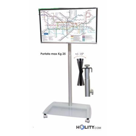 Cerchi piantana porta tv con altezza regolabile h12525 - Altezza porta ingresso ...