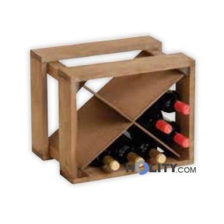 Portabottiglie in legno h19610 for Scaffali per vino ikea