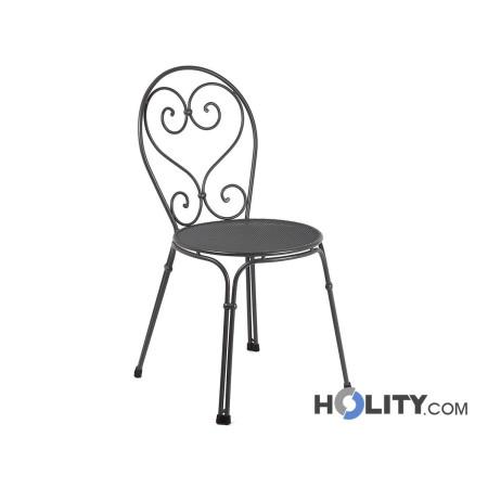 sedia-da-giardino-in-acciaio-impilabile-h19224