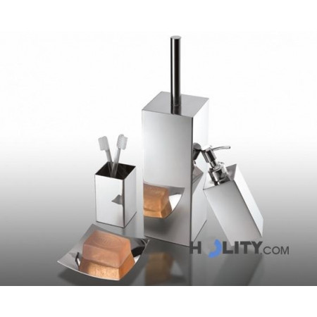 set accessori bagno in acciaio inox h107128