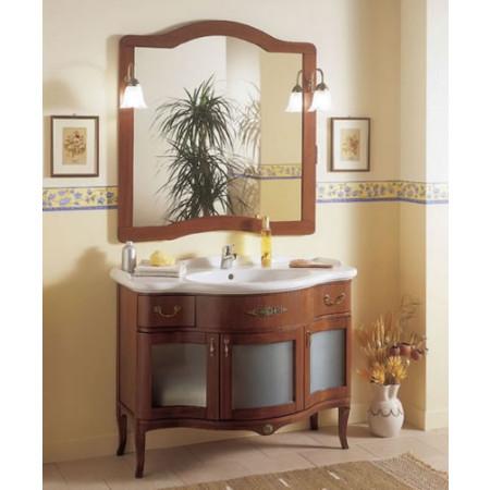 Mobile bagno classico in legno con ante in vetro h11302