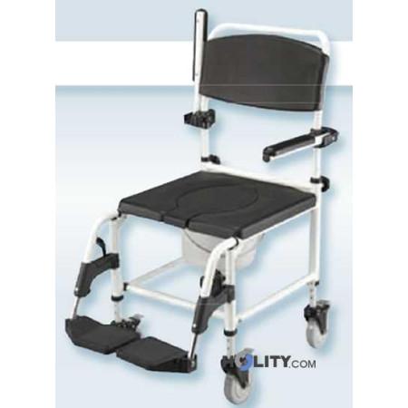 Sedia a rotelle da doccia e da comodo h9928 for Sedia a rotelle per gatti