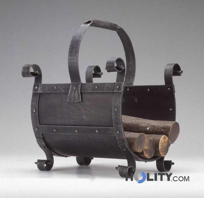 Portalegna in ferro battuto h10005 - Portalegna da interno ikea ...