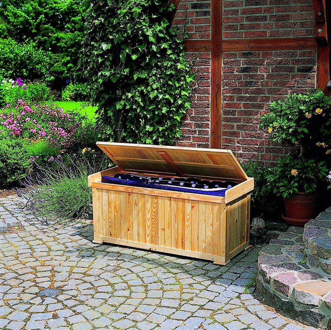 Cassapanca in legno con cuscino h24823 for Cassapanca di legno