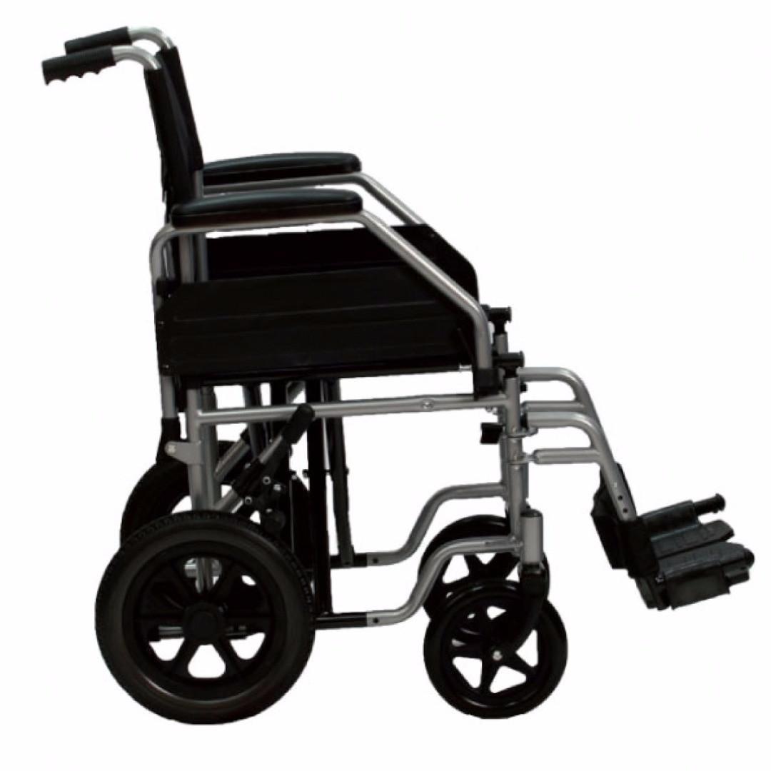 Carrozzina pigehevole da transito per disabili h23080 - Carrozzina per bagno disabili ...