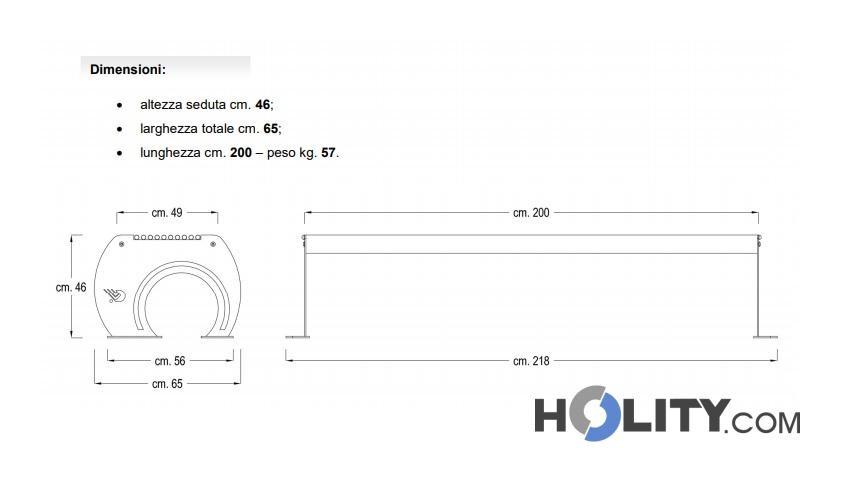 Panca senza schienale per arredo urbano in ferro h140193 for Panca arredo