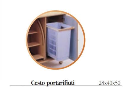 Mobile fasciatoio biposto in legno h17502