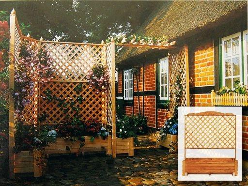 Terrazzo con grigliati cetos pergole pergolati gazebi for Grigliati con fioriera