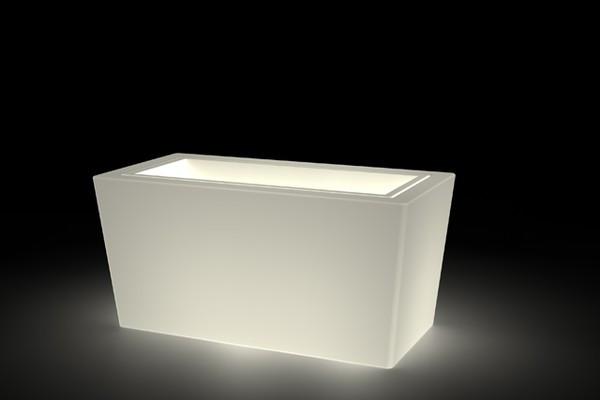 Vaso design con opzione luce h12709 for Vaso rettangolare