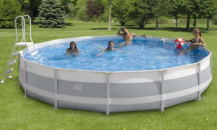 Cerchi piscina fuoriterra tonda con filtro a sabbia con kit h17410 - Filtro a sabbia piscina ...