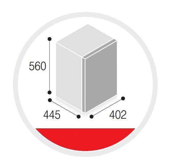 Minibar per hotel 40 lt con porta in vetro h3415 - Minibar per casa ...