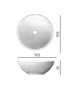 Lavabo da appoggio sfera scarabeo h25718 - Dimensioni lavabo bagno ...