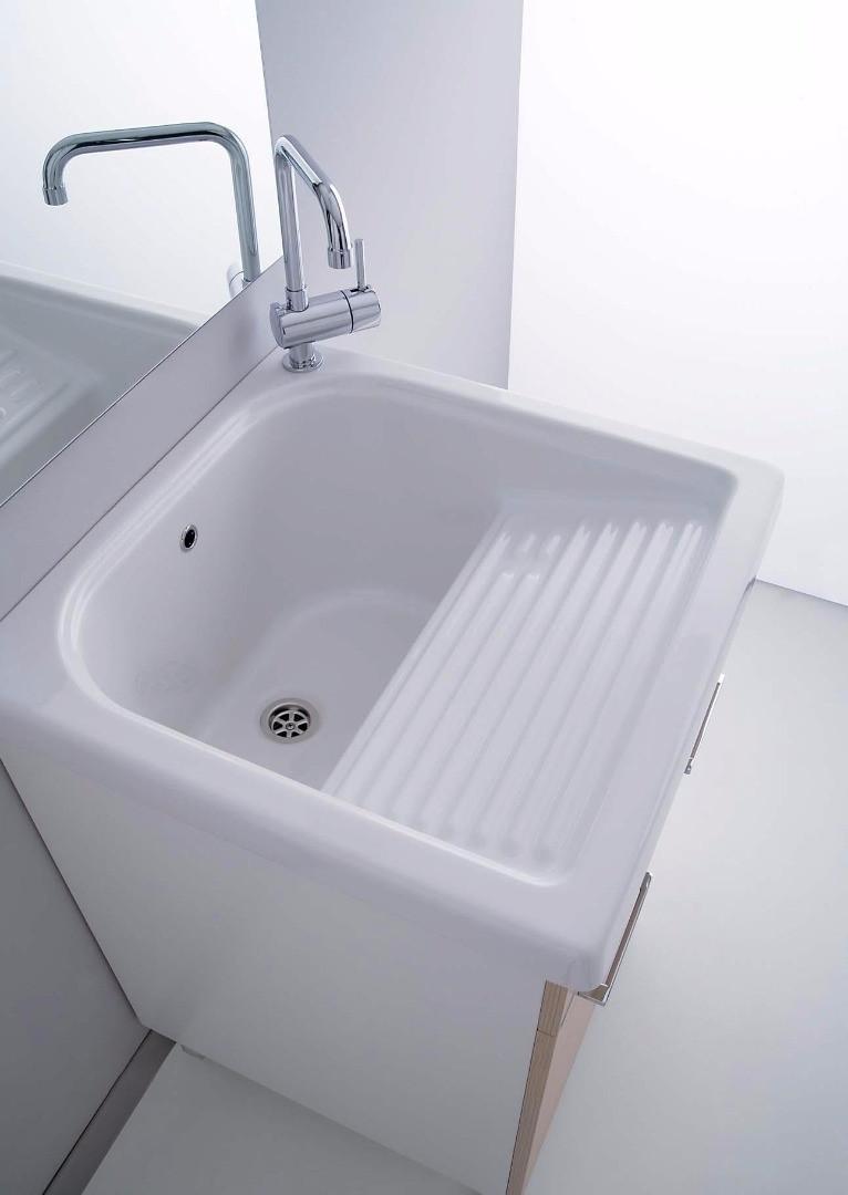 Lavatoio corallo con vasca in ceramica con strofinatoio elle emme ci h21014 - Lavatoio ceramica con mobile ...