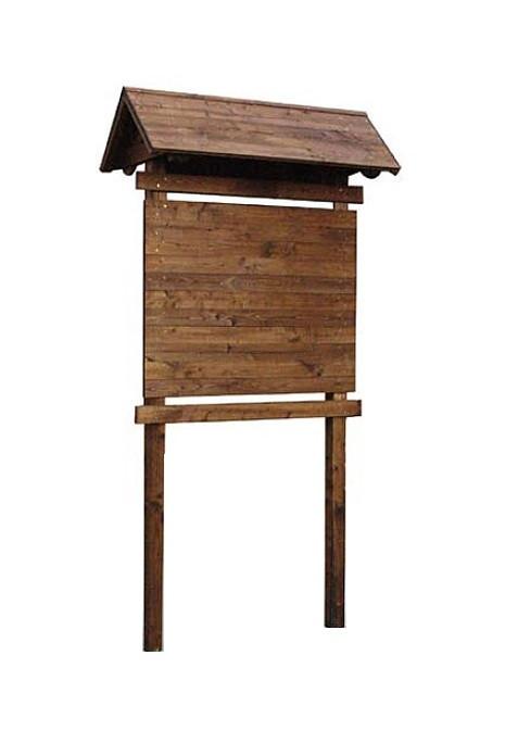 Bacheca per parchi in legno h28502 for Arredo parchi