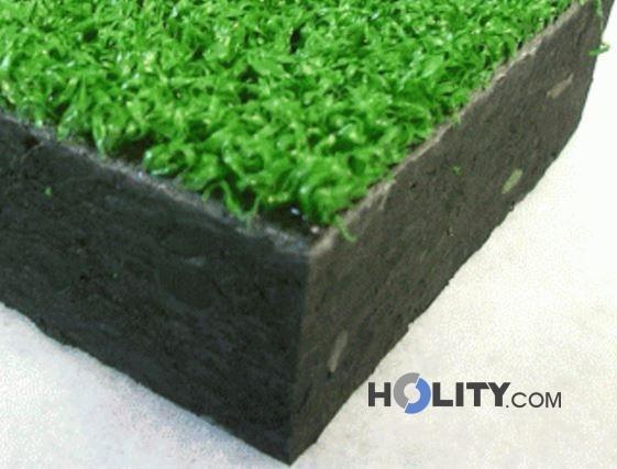 Piastrella 98x98 rivestita in erba sintetica h34008