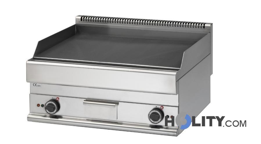 Fry top elettrico per cucine professionali con doppia piastra ...
