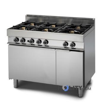Cucine a gas a 6 fuochi con forno elettrico e armadio neutro h35945 - Cucine a gas con forno elettrico ...