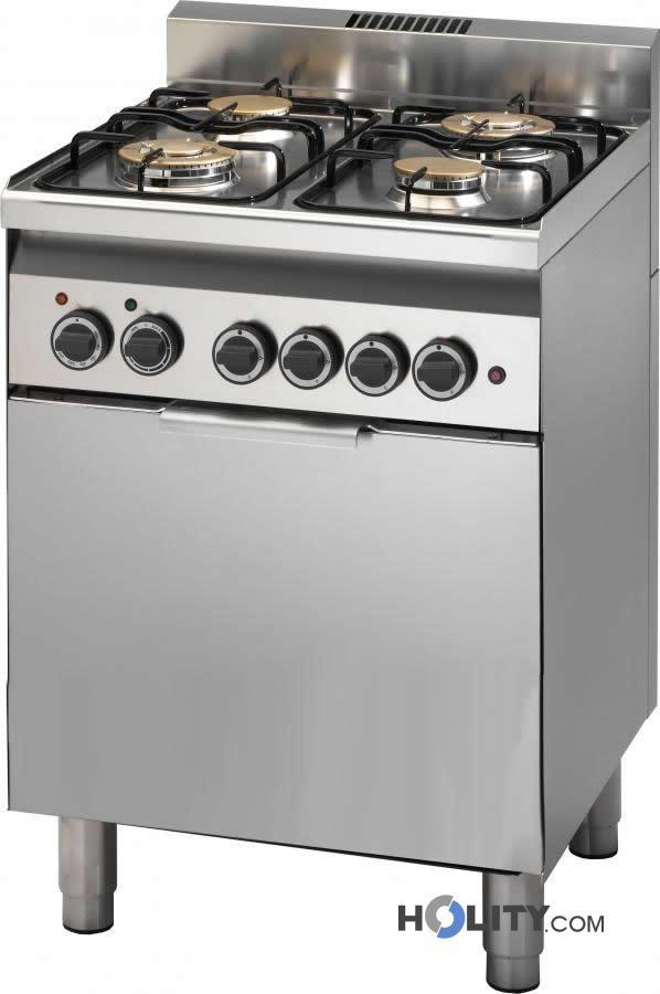 Cerchi cucina professionale a gas con forno elettrico a convezione h35952 - Cucine a gas con forno elettrico ...