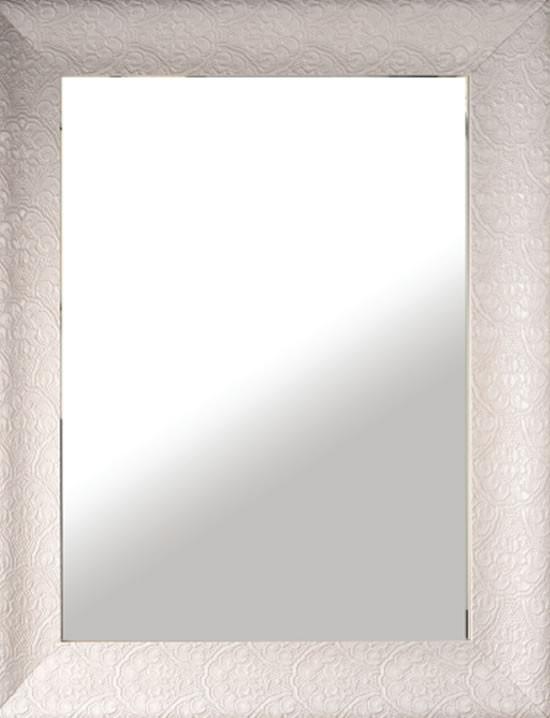 Cerchi specchio reversibile con cornice in legno laccata - Specchio cornice bianca ...